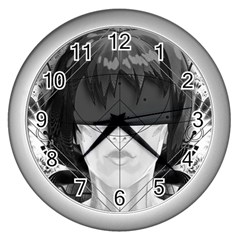 Beautiful Bnw Fractal Feathers For Major Motoko Wall Clocks (silver)  by beautifulfractals