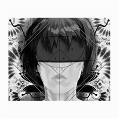 Beautiful Bnw Fractal Feathers For Major Motoko Small Glasses Cloth (2 Side) by jayaprime