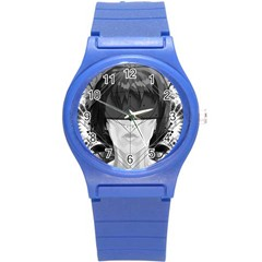 Beautiful Bnw Fractal Feathers For Major Motoko Round Plastic Sport Watch (s) by jayaprime