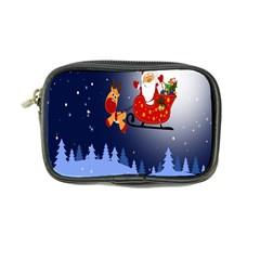 Deer Santa Claus Flying Trees Moon Night Merry Christmas Coin Purse by Alisyart