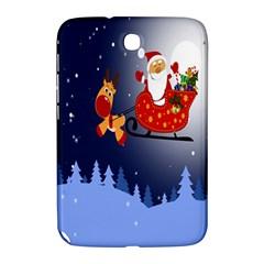Deer Santa Claus Flying Trees Moon Night Merry Christmas Samsung Galaxy Note 8 0 N5100 Hardshell Case  by Alisyart