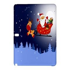 Deer Santa Claus Flying Trees Moon Night Merry Christmas Samsung Galaxy Tab Pro 10 1 Hardshell Case by Alisyart