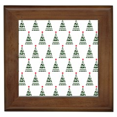Christmas Tree Green Star Red Framed Tiles by Alisyart