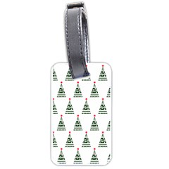 Christmas Tree Green Star Red Luggage Tags (one Side)  by Alisyart