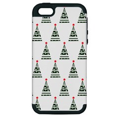 Christmas Tree Green Star Red Apple Iphone 5 Hardshell Case (pc+silicone) by Alisyart