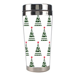 Christmas Tree Green Star Red Stainless Steel Travel Tumblers by Alisyart