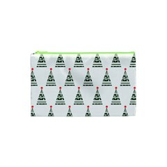 Christmas Tree Green Star Red Cosmetic Bag (xs) by Alisyart