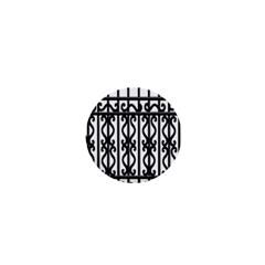 Inspirative Iron Gate Fence Grey Black 1  Mini Buttons by Alisyart