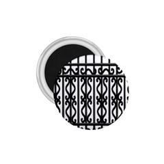 Inspirative Iron Gate Fence Grey Black 1 75  Magnets by Alisyart