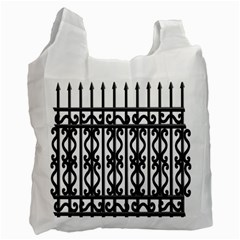 Inspirative Iron Gate Fence Grey Black Recycle Bag (one Side) by Alisyart