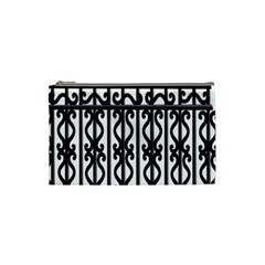 Inspirative Iron Gate Fence Grey Black Cosmetic Bag (small)  by Alisyart