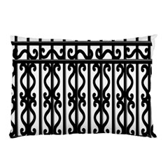 Inspirative Iron Gate Fence Grey Black Pillow Case (two Sides) by Alisyart