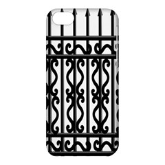 Inspirative Iron Gate Fence Grey Black Apple Iphone 5c Hardshell Case by Alisyart