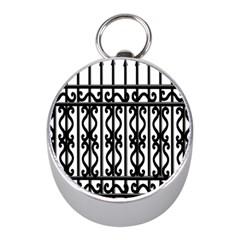 Inspirative Iron Gate Fence Grey Black Mini Silver Compasses by Alisyart