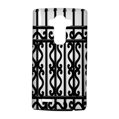 Inspirative Iron Gate Fence Grey Black Lg G4 Hardshell Case by Alisyart