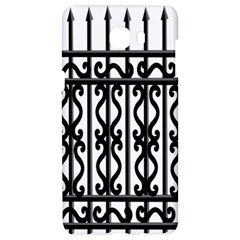 Inspirative Iron Gate Fence Grey Black Samsung C9 Pro Hardshell Case  by Alisyart
