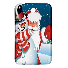 Hello Merry Christmas Santa Claus Snow Blue Sky Samsung Galaxy Tab 3 (7 ) P3200 Hardshell Case  by Alisyart