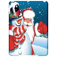 Hello Merry Christmas Santa Claus Snow Blue Sky Apple Ipad Pro 9 7   Hardshell Case by Alisyart