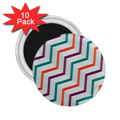 Line Color Rainbow 2 25  Magnets (10 Pack)  by Alisyart