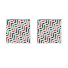 Line Color Rainbow Cufflinks (square) by Alisyart