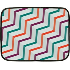 Line Color Rainbow Double Sided Fleece Blanket (mini)  by Alisyart