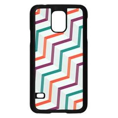 Line Color Rainbow Samsung Galaxy S5 Case (black) by Alisyart