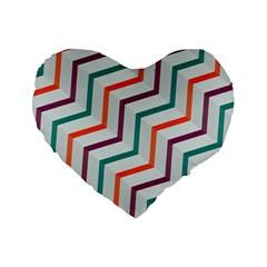 Line Color Rainbow Standard 16  Premium Flano Heart Shape Cushions by Alisyart