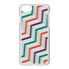 Line Color Rainbow Apple Iphone 8 Seamless Case (white)