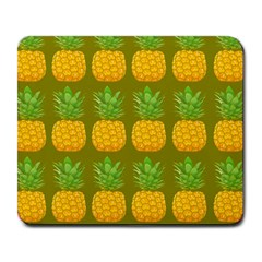 Fruite Pineapple Yellow Green Orange Large Mousepads by Alisyart