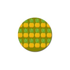 Fruite Pineapple Yellow Green Orange Golf Ball Marker (4 Pack) by Alisyart