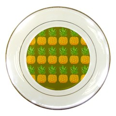 Fruite Pineapple Yellow Green Orange Porcelain Plates by Alisyart