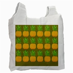 Fruite Pineapple Yellow Green Orange Recycle Bag (one Side) by Alisyart