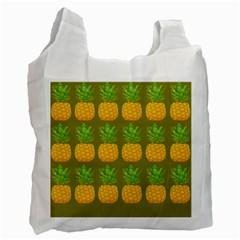 Fruite Pineapple Yellow Green Orange Recycle Bag (one Side) by Alisyart