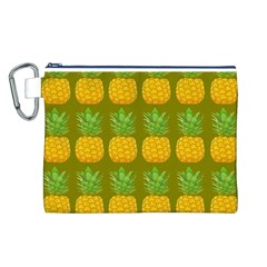 Fruite Pineapple Yellow Green Orange Canvas Cosmetic Bag (l) by Alisyart