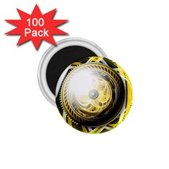 Incredible Eye Of A Yellow Construction Robot 1 75  Magnets (100 Pack)  by jayaprime