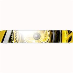 Incredible Eye Of A Yellow Construction Robot Small Bar Mats by jayaprime