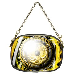 Incredible Eye Of A Yellow Construction Robot Chain Purses (one Side)  by jayaprime
