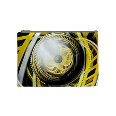 Incredible Eye Of A Yellow Construction Robot Cosmetic Bag (medium)