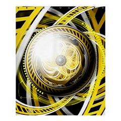 Incredible Eye Of A Yellow Construction Robot Shower Curtain 60  X 72  (medium)  by jayaprime