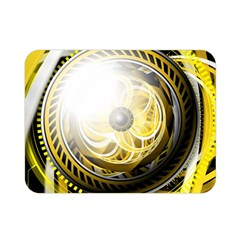 Incredible Eye Of A Yellow Construction Robot Double Sided Flano Blanket (mini)  by beautifulfractals