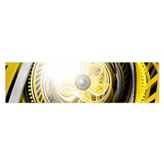 Incredible Eye Of A Yellow Construction Robot Satin Scarf (oblong) by jayaprime