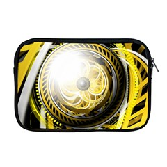 Incredible Eye Of A Yellow Construction Robot Apple Macbook Pro 17  Zipper Case by jayaprime