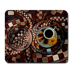 Midnight Never Ends, A Red Checkered Diner Fractal Large Mousepads by beautifulfractals