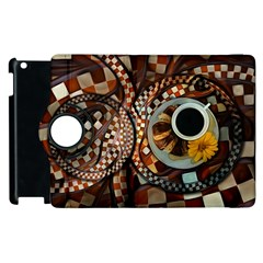 Midnight Never Ends, A Red Checkered Diner Fractal Apple Ipad 3/4 Flip 360 Case by jayaprime
