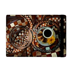 Midnight Never Ends, A Red Checkered Diner Fractal Ipad Mini 2 Flip Cases by jayaprime