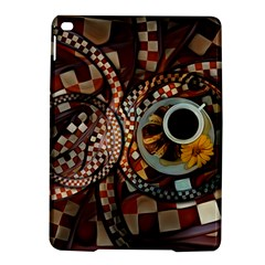 Midnight Never Ends, A Red Checkered Diner Fractal Ipad Air 2 Hardshell Cases by jayaprime