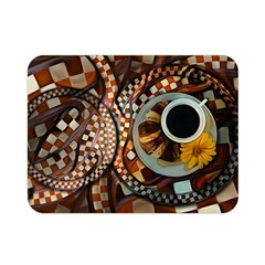 Midnight Never Ends, A Red Checkered Diner Fractal Double Sided Flano Blanket (mini)  by jayaprime