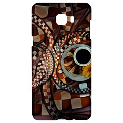 Midnight Never Ends, A Red Checkered Diner Fractal Samsung C9 Pro Hardshell Case  by jayaprime