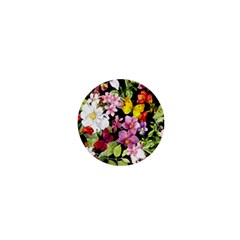 Beautiful,floral,hand Painted, Flowers,black,background,modern,trendy,girly,retro 1  Mini Buttons by 8fugoso