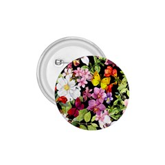 Beautiful,floral,hand Painted, Flowers,black,background,modern,trendy,girly,retro 1 75  Buttons by 8fugoso